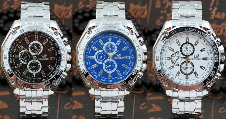 卸売100ピース-ロットオーランドブランドステンレス鋼腕時計メタルクォーツ腕時計-クレイジーセラードレスウォッチmw024