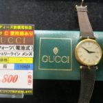 GUCCI シェリーライン 腕時計が新入荷しました! 前橋市で腕時計の電池交換なら、ゴールディーズ前橋荒牧店!腕時計の買取・販売もしています!!