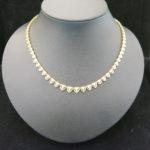 K18のダイヤモンド ネックレスが新入荷しました!
