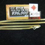 喜平ネックレス新着情報!ゴールディーズ本庄店にてK18 喜平2面 シングル ネックレスが入荷しました!