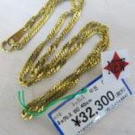ゴールディーズ本庄店より新商品のお知らせ!K18 スクリュー デザイン ネックレス 40cm 入荷しました