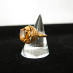 「K18 #10 オレンジ石のリング 新入荷致しました」
