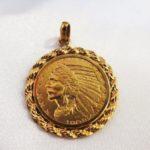 ゴールディーズ大泉店インディアン金貨のコイントップをお買取りしました!