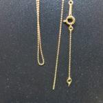 K18 1gネックレス!3,400円で買取させていただきました!切れたネックレスも、大歓迎で買取いたします!